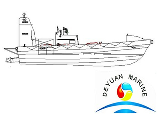SOLAS Offshore GJ5.0 Training Rigid FRP Fast Rescue Boat