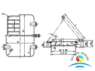Ship Model B Non-wateright Marine Breather Hatch Cover