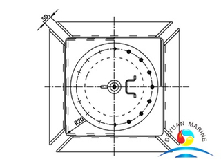 Marine Flat Type Loading Hole Cover With CCS Approval