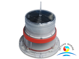 Red Solar LED Marine Navigation Light Flashing Solar Light