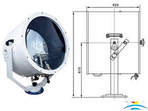 3000W High Power Marine Suez Canal Searchlight For Tug Boat