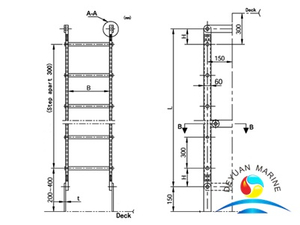 Aluminium Pipe Vertical Ladder