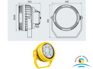 120W Marine Explosion-proof LED Aluminium Alloy Spotlight For Boats