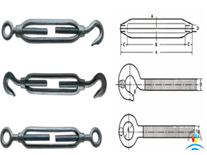JIS Type Drop Forged Carbon Steel Frame Turnbuckles Eye and Eye