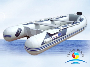 PVC Inflatable Sport Boats With Aluminum floor Plywood Board