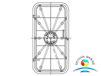 Marine Ship Quick Acting Steel Watertight Door With Handle Wheel