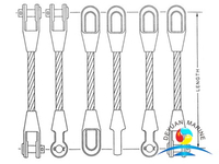 Galvanized Wire Rope Sling With Spelter Sockets For Lighting Hanging