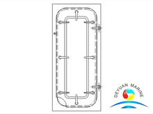 Marine MB Light Type Steel Waterlight Door For Ship