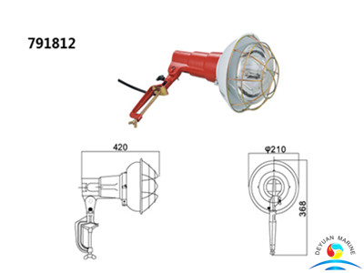300W Screw-Base Small Type Boat Spotlights For Marine Use