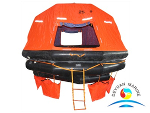SOLAS Approved ASR Type 25 Man Self-Righting Inflatable Liferaft