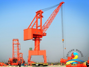 Lever Luffing and Traveling Crane for Shipbuilding Factory Assembly