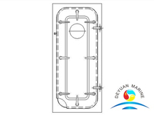 Marine MC Light Type Steel Wartertight Door With Round Window