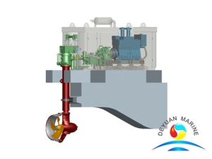 130KW NDRP Deck Combined Azimuthing Thruster For Vessel