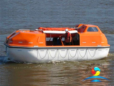 SOLAS Partially Enclosed Davit-launched Lifeboat With 20 Person Capacity