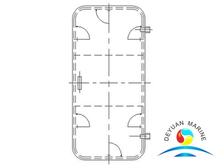 Marine Steel Weathertight Door With Round Wondow For deckhouse