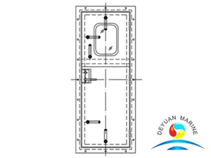 Marine Ship Aluminium Weathertight Hollowed Door With CCS Approval