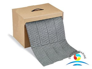Gray Absorbent Mat Roll in Dispenser Box