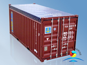 20' Open-Top Dry Cargo Steel Container