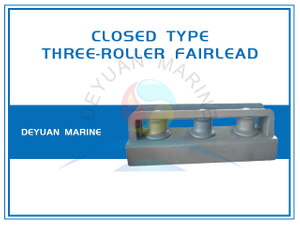 JIS F2014 Closed Type Three Roller Fairlead