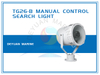 300W/500W Stainless Steel Search Light TG26-B for Lighting