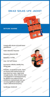 Deyuan Marine Hot Sale SOLAS Approved Float Life Jacket