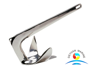 Polished Stainless Steel Small Boat And Yacht Grapnel Folding Anchor