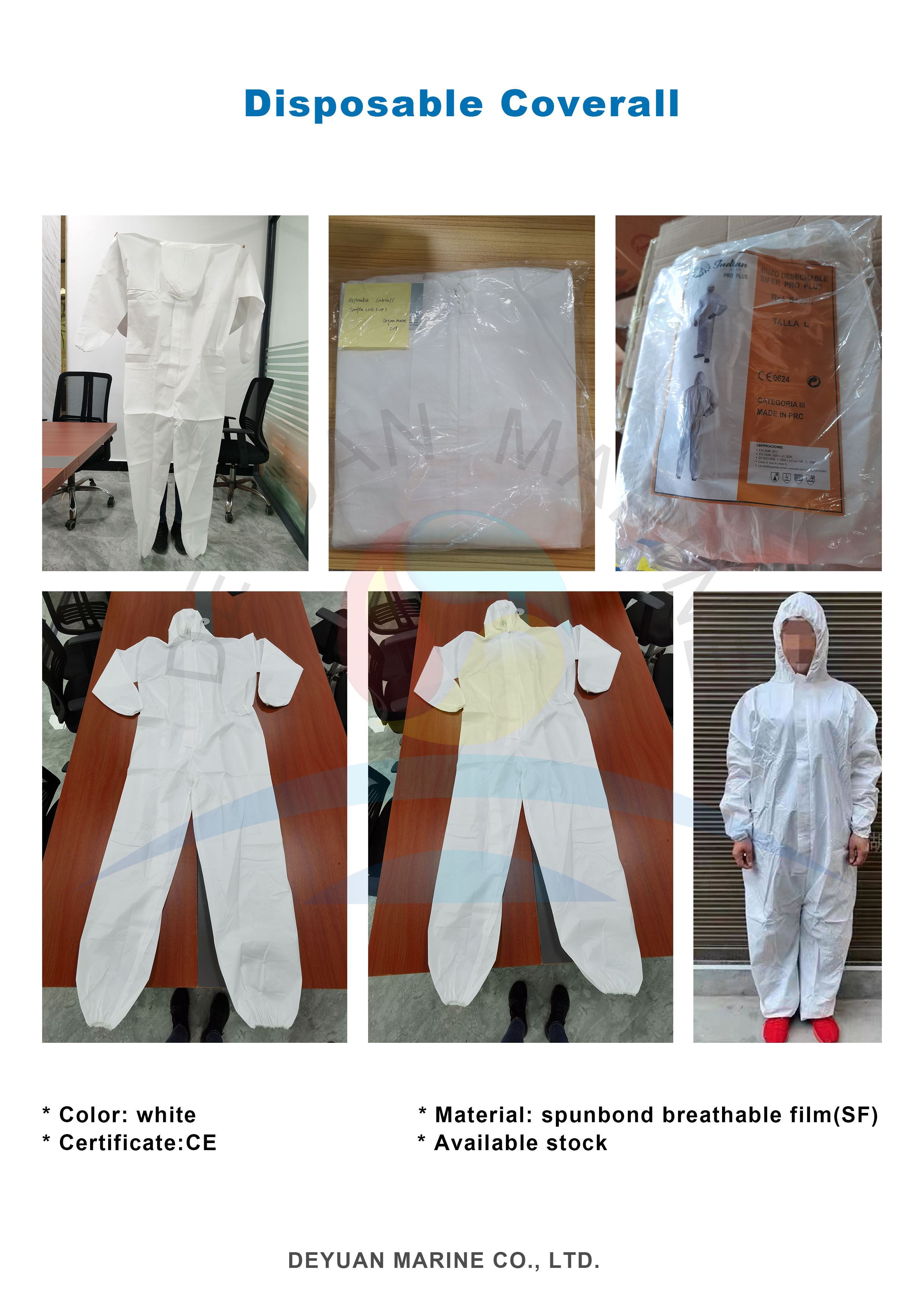 Disposable Protective Clothing/Overall