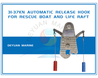 Automatic Release Hook For Rescue Boat and Life Raft