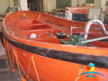 Diesel Engine FRP Material Marine Open Lifeboat For All Ships