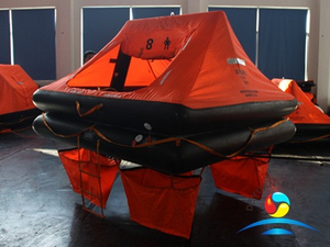 YJT Type 8 Man Throw Over Board Inflatable Liferaft