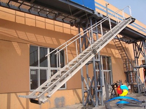 22800mm Aluminium Telescopic Accommodation Ladder With ABS Approval For Ship