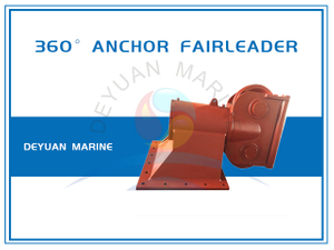 Type A38 Deck Mounted Double Sheave 360 ° Anchor Fairleader