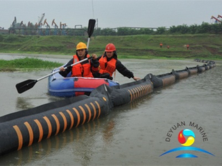 River Inflatable Rubber Oil Containment Boom