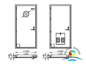 Marine A60 Steel Fireproof Door With CCS Approval For Ship