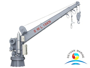 21KN Single Arm Slewing Life Raft Davit Crane For Rescue