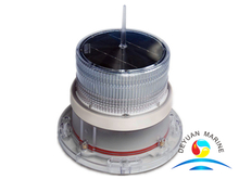 White Solar Marine Navigation Light