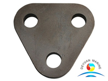 Black Carbon Steel Three Hole Triangle Plate Hardware For Ships