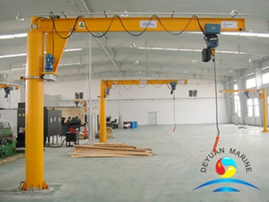 Electrical AND Manual Marine Cantilever Swing Arm Jib Crane
