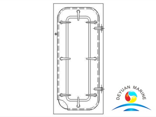 Marine Heavy Type Steel Door for Boat With CCS