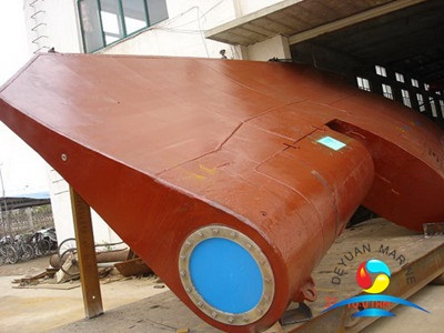 Alloy Steel Hight Quality Marine Fishtail Rudder For Vessel