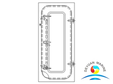 Marine BA Type Steel Semi-watertight Door For Boat