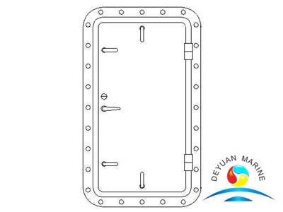 Marine Ship Single-leaf Round-corner Aluminium Weathertight Hollowed Door