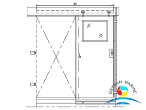 Marine Aluminium Sliding Type Mechanical Clamp Sealing Air-tight Door