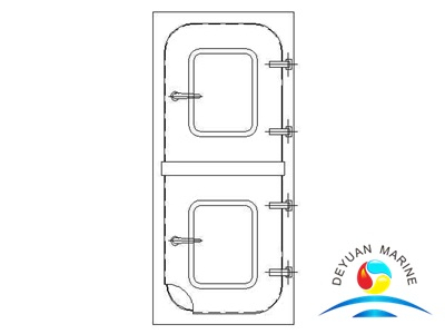 BC Type Marine Steel Two Half Leaf Semi-watertight Door